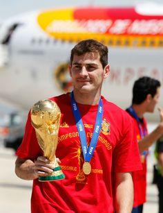 Iker Casillas - Spanish Football Team Arrives at Barajas Airport