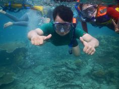 Tidung Island, Indonesia.. what a wonderful blue green sea..