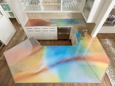 Beautiful Colorful Countertops Contemporary   Home Inspiration