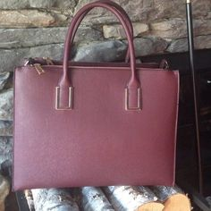 H&M Burgundy Bag New with tag, never been used. Large size . Sold out in stores . H&M Bags Shoulder Bags
