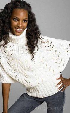 Пуловер спицами вяжем по описанию и схеме
