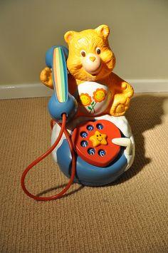 Vintage talking Care Bears phone!