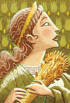 Greek Gods  Demeter 8 x 10 Print by glenmullaly on Etsy