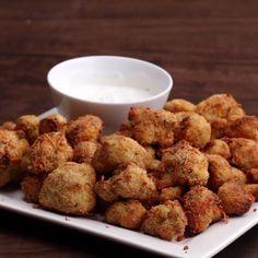 Cheddar Parmesan Cauliflower Bites