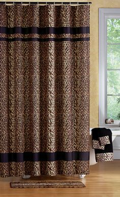 Leopard Print Bathroom Shower Curtain, already told Roy this was happing in the house! lol