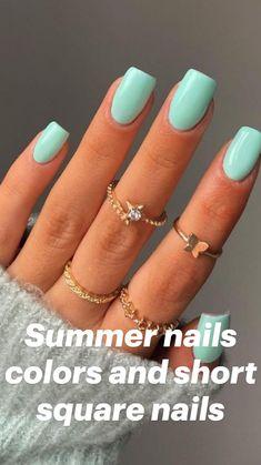 Nail Art Cute, Cute Gel Nails, Summer Acrylic Nails, Best Acrylic Nails, Squoval Acrylic Nails, Easy Nails, Super Cute Nails, Gradient Nails, Pastel Nails
