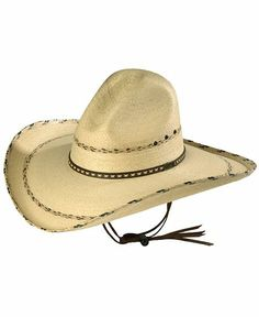 b34d13c9b24 Larry Mahan 30X Pancho Gus Palm Straw Western Hat