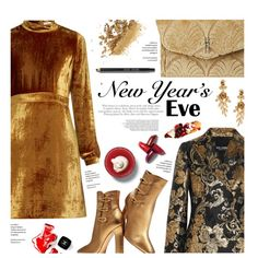 How To Wear gold and velvet NYE Outfit Idea 2017 - Fashion Trends Ready To Wear For Plus Size, Curvy Women Over 20, 30, 40, 50