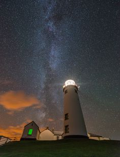 Milky Way Behind Fanad Lighthouse