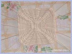 интересное дно для корзинки из газет. Обсуждение на LiveInternet - Российский Сервис Онлайн-Дневников Paper Weaving, Rolled Paper, Newspaper Crafts, Paper Basket, Basket Weaving, Miniatures, Creative, Handmade, Inspiration