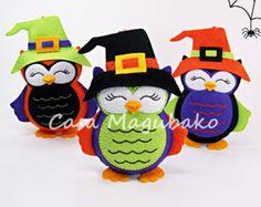 Felt Owl Pattern Felt Owl Embellishment or by CasaMagubako