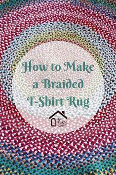 make a braided tshirt rug ! mache einen geflochtenen t-shirt teppich make a braided tshirt rug ! Braided Rug Tutorial, Rag Rug Tutorial, Tutorial Crochet, Braided T Shirts, Rag Rug Diy, Homemade Rugs, Braided Rag Rugs, Diy Braids, Fabric Rug