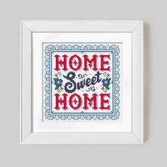 Home Sweet Home  Cross Stitch Pattern Digital von Stitchrovia, £6.50