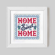 Home Sweet Home  Cross Stitch Pattern Digital por Stitchrovia