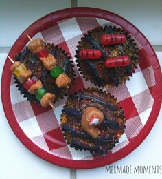 Lemme See Your Grill (Summer Cupcake Idea)