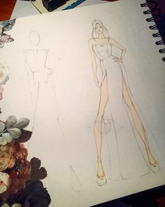 """ถูกใจ 98 คน, ความคิดเห็น 5 รายการ - Laura Tessaris (@laura_tessaris) บน Instagram: """"From my sketchbook ⭐️CONTEST look at the previuos post⭐️#sketchbook #sketch #fashion#fashionsketch…"""""""
