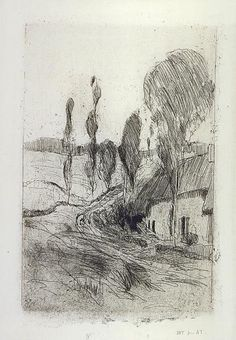 Road near Honfleur. ca. 1883-1884, restrict 1921. etching, aquatint and drypoint on paper.