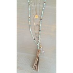 Leather Tassel Necklace by HelloGoodVibesDallas on Etsy