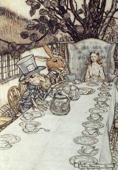 Arthur Racham Alice In Wonderland Reproduction Prints Number #8 of 13