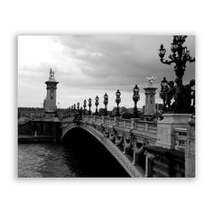 "Paris Photography, Paris photos, Paris decor, Bridges of Paris, Seine River - ""Pont Alexander"" - Black and White Fine Art Photograph"