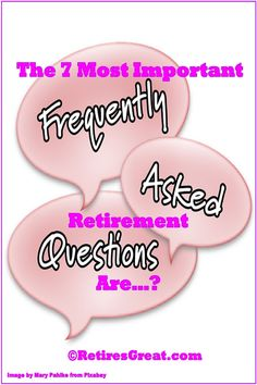 After writing on so many aspects, we decided it was time to capture the 7 most important retirement questions. Everyone has questions, worries and preconceived notions on what retired life will be like. While it'll be unique and different for each of us, surprisingly, the majority of us are thinking and wondering about the same things. Undoubtedly, all these concerns will go through just about everyone's mind. #importantretirementquestions #commonretirementquestions #keyretirementquestions