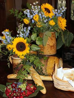 Sunflowers and Country French Antiques