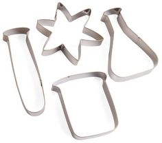 Labcutter Science Cookie Cutters. These would be great for Halloween.