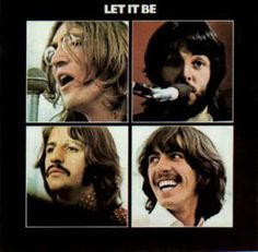 The cover for the 1970 album 'Let It Be' by The Beatles. Clockwise from top left: John Lennon, Paul McCartney, George Harrison, Ringo Starr. Beatles Album Covers, Beatles Albums, Rock Album Covers, Classic Album Covers, Music Album Covers, Music Albums, Original Beatles, Beatles Radio, Vinyls