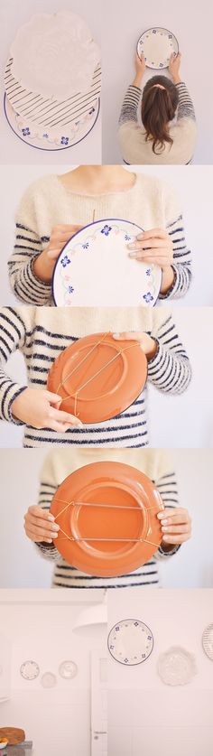 How to hang plates on the wall.                                                                                                                                                     More
