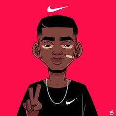 Swag Cartoon, Foto Cartoon, Dope Cartoon Art, Cartoon Art Styles, Arte Do Hip Hop, Hip Hop Art, Anime Rapper, Rapper Art, Arte Dope