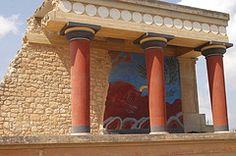 Knossos (also known as Knossos Palace) is the largest archeological site on Crete. It was the ceremonial and political centre of the Minoan civilization and culture.