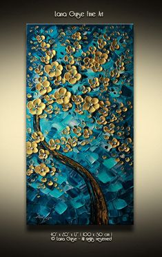 Abstract Tree Painting, Texture Painting On Canvas, Palette Knife Painting, Textured Painting, Oil Painting Flowers, Oil Painting Abstract, Abstract Art, Diy Canvas Art, Acrylic Art
