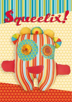 Squeelix Softie Colourful Fabric Toy Free Pattern
