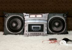 Boombox Pillow Cover Design @ http://www.yousaytoo.com/spots/cool-design-objects