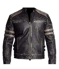 Discreet Leather Motorbike Motorcycle Jacket Short Biker Brown Distressed Ce Armoured Buy Now Clothing, Shoes & Accessories Parts & Accessories
