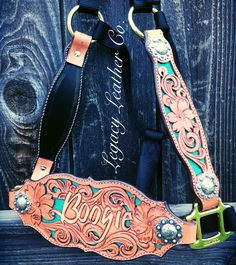 Beautiful custom bronc halter made by Legacy Leather Co. In Central Point, OR