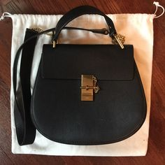 Super cute crossbody real leather bag Used but in good condition. Leather is perfect . Hardware has a lots of scratches to it. Chloe like style. Chloe like Bags Crossbody Bags