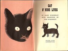 Cat O'Nine Lives, children's book illustrated by Tom Eckersley, 1946