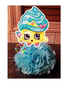 Cupcake Queen Party Shopkin centerpiece by LizsPartyDesigns