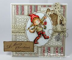 Tilda with two little gifts, A Christmas story collection, Magnolia stamps