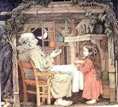 "illustration from ""Dear Millie"" by Maurice Sendak - love his pen and ink style and placement of color."