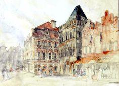 arquitetura em aquarela