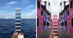 Italian Graphic Designer Finds Pantone Colors In Natural Landscapes And Cities | Bored Panda