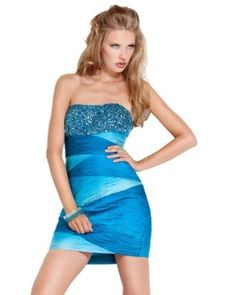 Jovani 7524, Ruched and Beaded Dress,