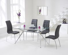 Buy Catalina Dining Table and 4 Chairs White and Natural at