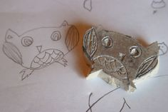 Make a stamp out of your kids drawings