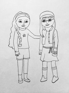 Popular American Girl Coloring Pages 26 Printable Fabric doll coloring