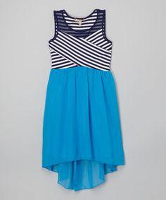 Another great find on #zulily! Blue & Navy Stripe Hi-Low Dress by Speechless #zulilyfinds