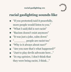 What Is Racial Gaslighting? This Woman Gave A Powerful Explanation Teacher Diva, Magnesium Oil, Stress, Anti Racism, Listening To You, Oppression, When Someone, Matte Black, How To Become