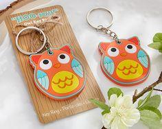 """""""HOO-ray!"""" owl key ring"""
